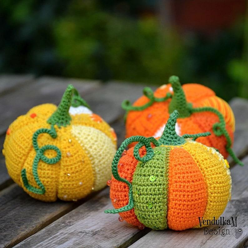 Crochet pattern  Patchwork pumpkin / VendulkaM / Autumn / image 0