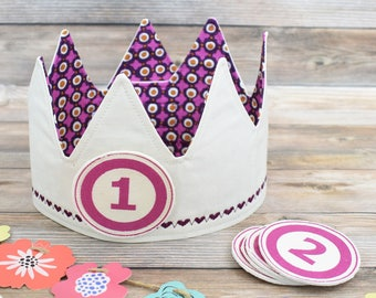Pink & Purple Birthday Crown