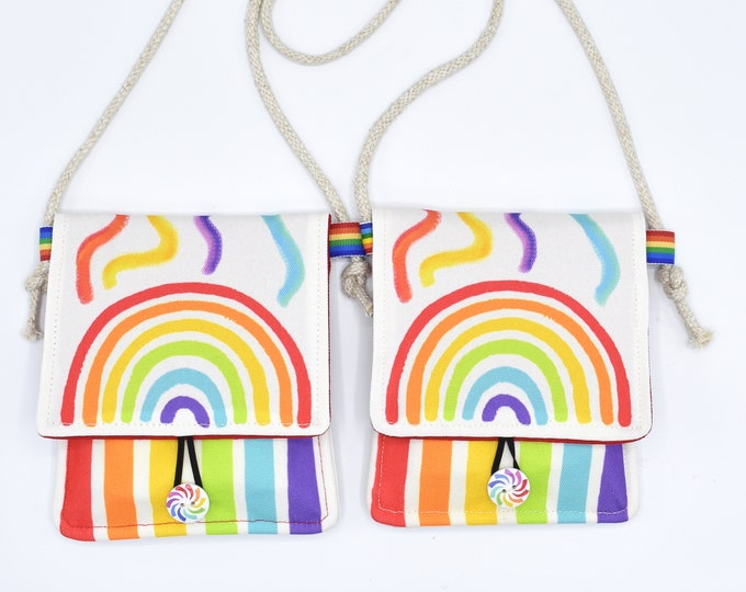 Set of 2 Rainbow Crayon Holders