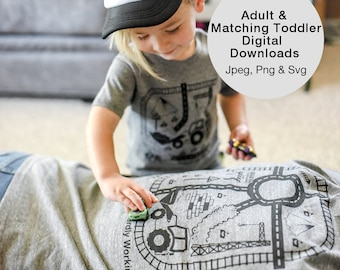 Digital Download of Dad & Toddler Matching Playmat T Shirts