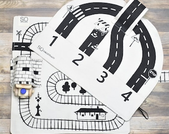 Train and Car Playmat Gift Set