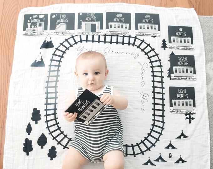 Baby Keepsake Memory Cards and Blanket