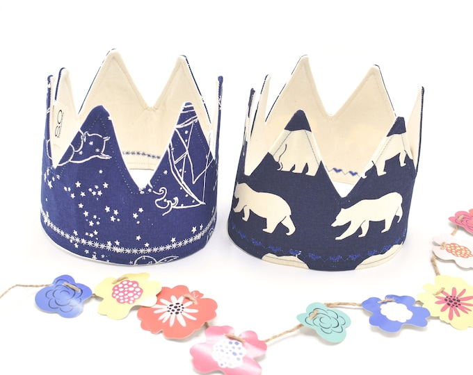 Blue Birthday Crowns