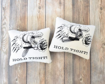 Set Of 2 Dinosaur Ring Bearer Pillows