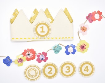 Yellow Birthday Crown
