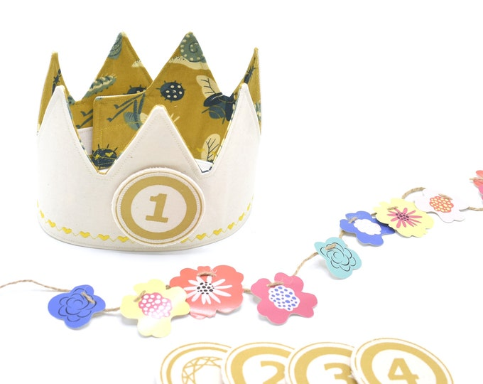 Yellow Birthday Crowns