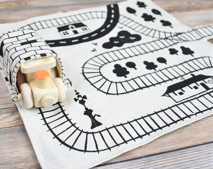 Featured listing image: Wooden Train and Playmat