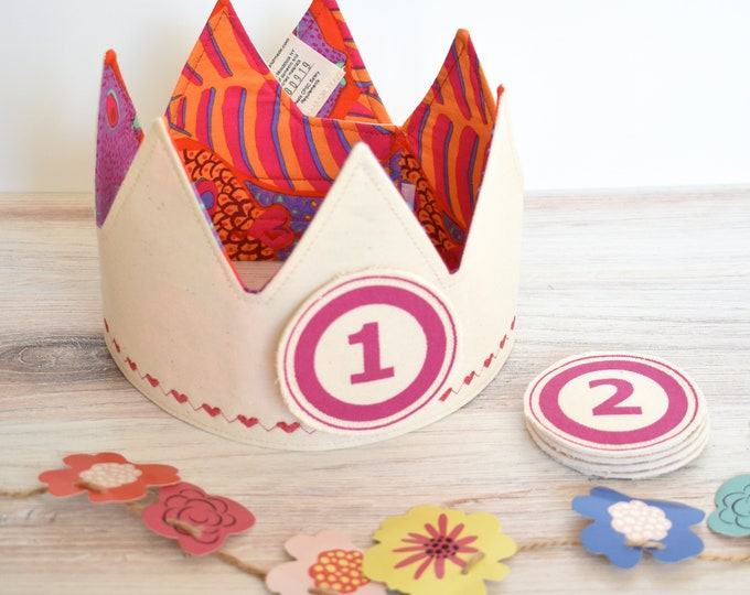 Red and Orange Birthday Crowns