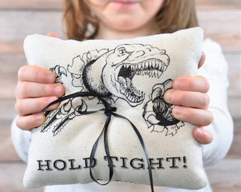 Dinosaur Ring  Bearer Pillow