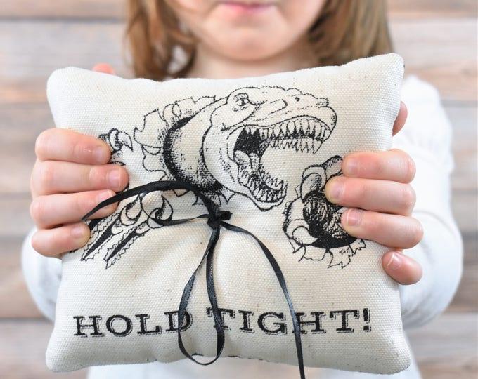 Dinosaur Ring  Bearer Pillow