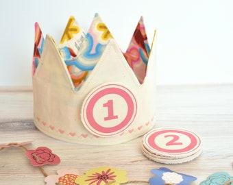 Pink First Birthday Crown