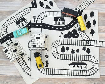 Set of 2 Train Playmats