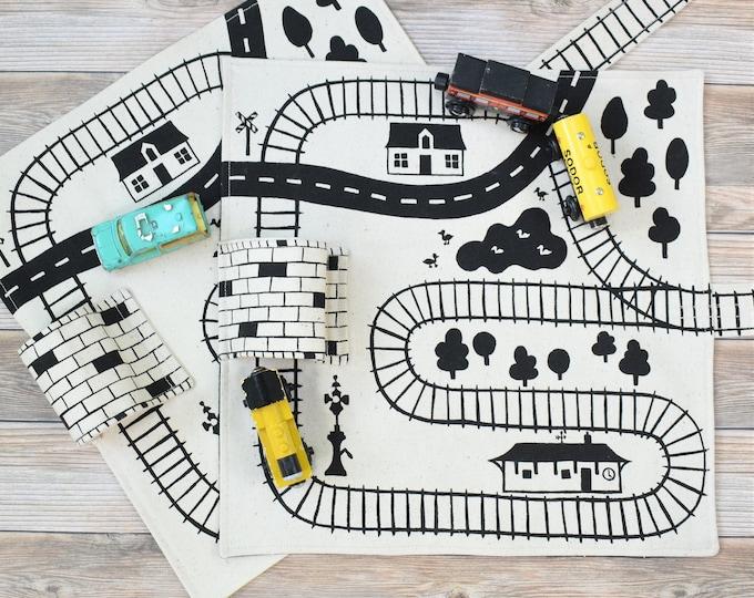 Set of 2 Train Playmats