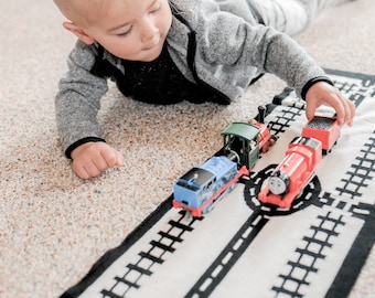 Train Tracks Kids Play Mat Scarf