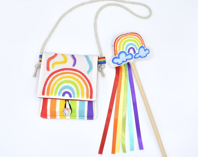 Rainbow Wand and Crayon Holder Set