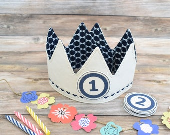Navy Blue Birthday Crown,