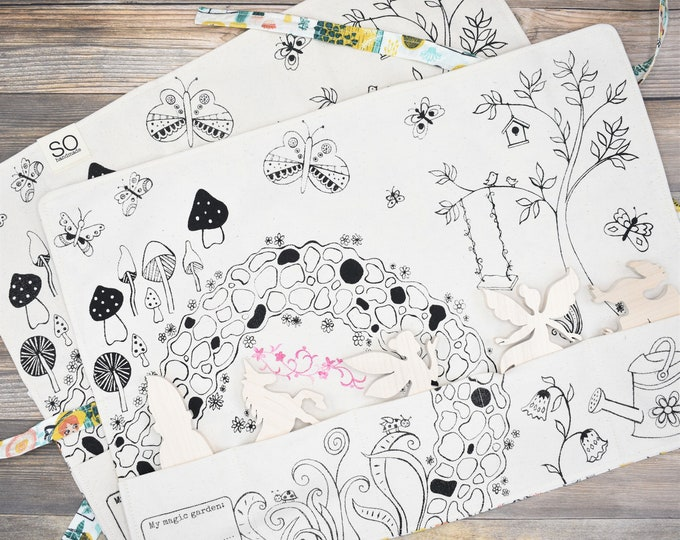 Set of 2 Magic Garden Playmats