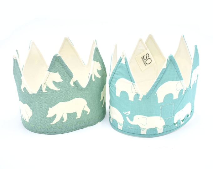 Aqua Fabric Crowns