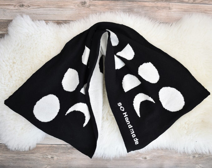 Phases of the Moon Kids Scarf