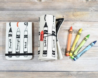 Crayon Roll And Notebook