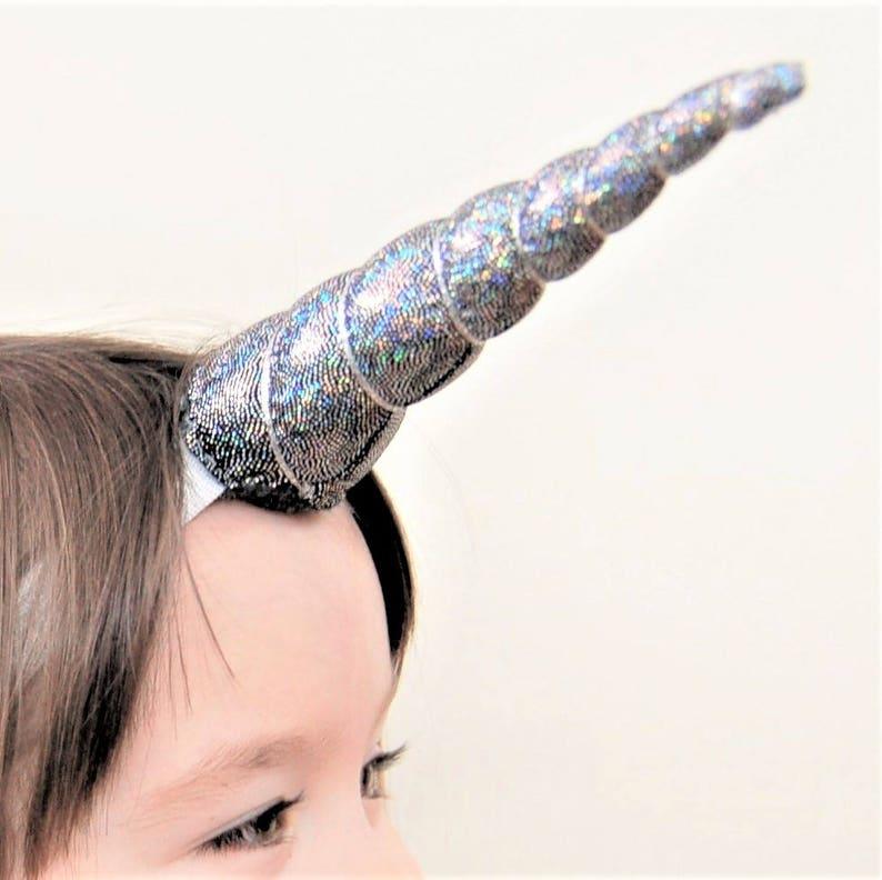 Silver Unicorn Headband kids headband, unicorn party Irridescent Unicorn silver unicorn unicorn headband Costume Accessories