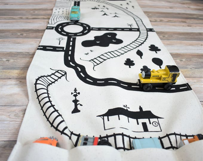 Featured listing image: Large Road and Train Playmat