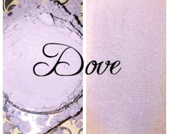 DOVE Organic Matte Mineral Eye Shadow Dusty gray violet Vegan All Natural Pure Gluten Cruelty Free