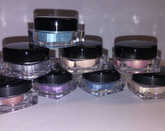 6Pc EYE SHADOW SET Organic Minerals UPick your own shades Beauty Minerals Vegan All Natural Vegan