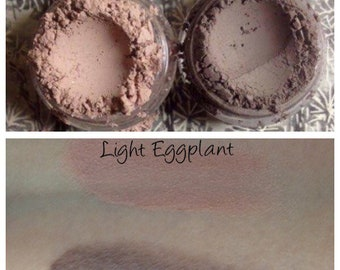 DARK & LIGHT EGGPLANT Organic 2pc Mineral Matte Eye Shadow Dusty dark violet Vegan All Natural Pure Handmade