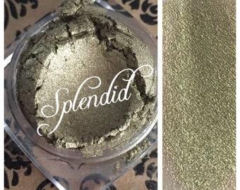 SPLENDED Organic Eye Shadow Green gold shade Vegan All Natural  Pigment