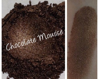 CHOCOLATE MOUSSE  Eye Shadow Minerals Gold Bronze Shadow and Liner Chocolate Brown Bronze Organic Beauty Vegan Cruelty Free