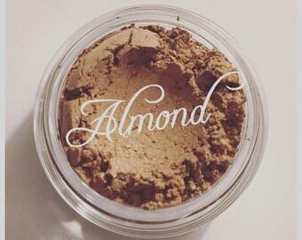 ALMOND Eye Shadow Organic Light Brown with hint of Gold Shade Blush Beauty Vegan Cruely Free