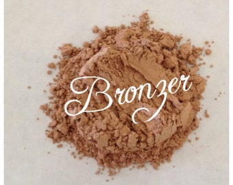 BRONZER Organic Mineral Bronzing powder for face & body All Natural Vegan Organic w/ Jojoba oil, vitamin e, green tea, Pure