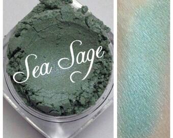 SEA SAGE Sea Blue Mineral Eye Shadow Vegan All Natural Pure Gluten Cruelty Free