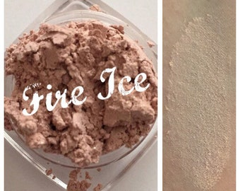FIRE ICE Organic Mineral Eye Shadow Pale Pink Shade All Natural Pure