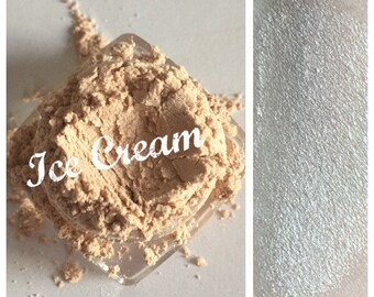 ICE CREAM Organic Mineral Eye Shadow Ivory Highlighter All Natural Pure