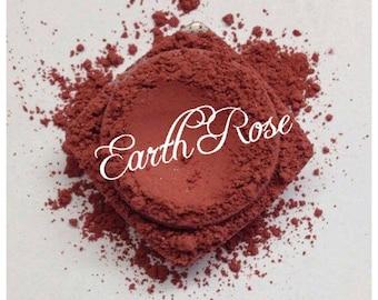 EARTH ROSE BLUSH Organic Mineral Deep rose berry Shade Organic Cosmetic Beauty Vegan Cruely Free