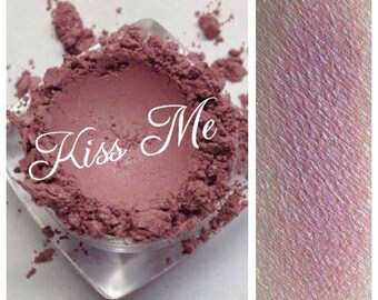 KISS ME Shadow Mineral Rose Pink Eye Shadow Organic Vegan All Natural  Vegan