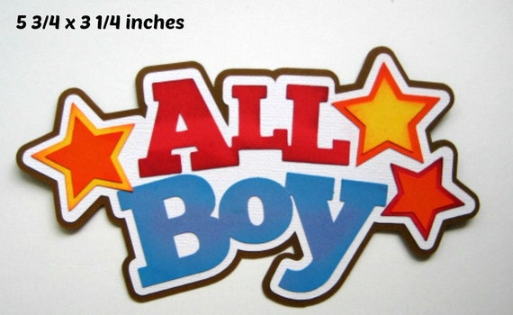 BOY SCOUT TITLE boy  everyday paper piecing 3D die cut for scrapbook page Rhonda