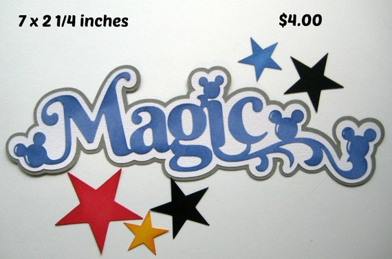Disney Magic Title girl boy premade scrapbook page paper piecing for album,cards layouts Rhonda