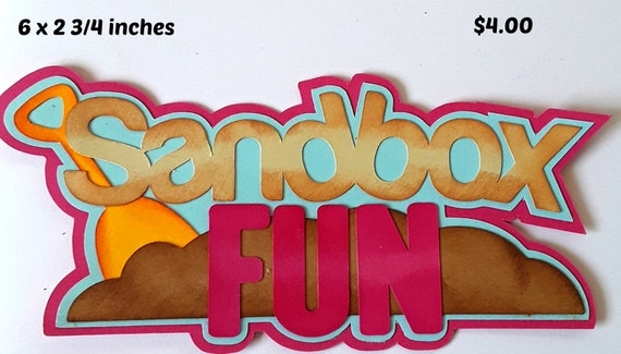 KID/'S ROCK TITLE play boy girl  paper piecing 3D die cut for premade scrapbook pages,album,cards by Rhonda