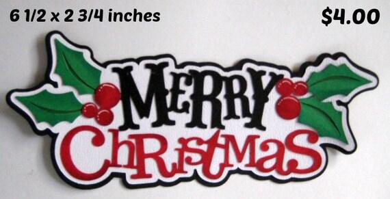 MERRY CHRISTMAS title die cuts Scrapbook cards