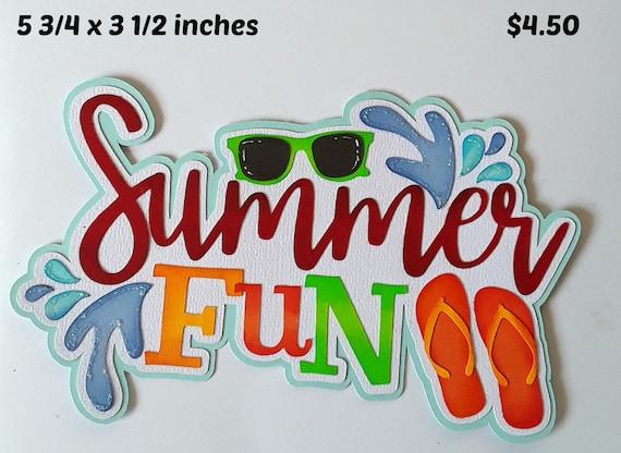 BEACH GIRL TITLE summer  girl scrapbook premade paper piecing by Rhonda