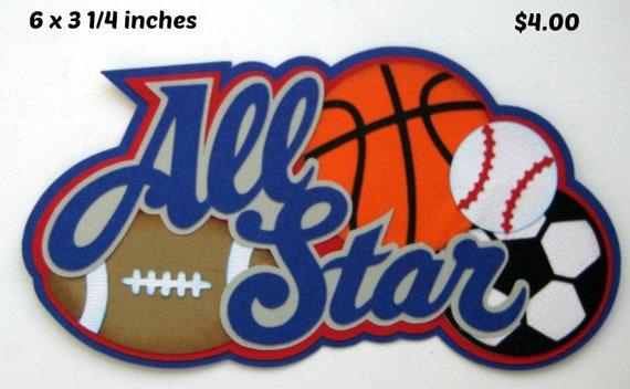 Basketball boy girl sport piecing title premade scrapbook page Rhonda rm613art
