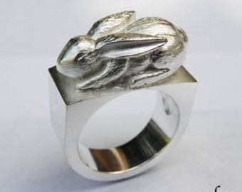 Bunny Silver Ring