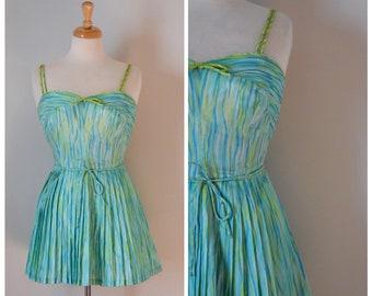 50s Vintage Swimsuit / Vintage Swimsuit / Vintage Swimwear / Skirted Swimsuit / Pinup / Rockabilly / 60s Bathing Suit / 50s Swimwear / GaBar