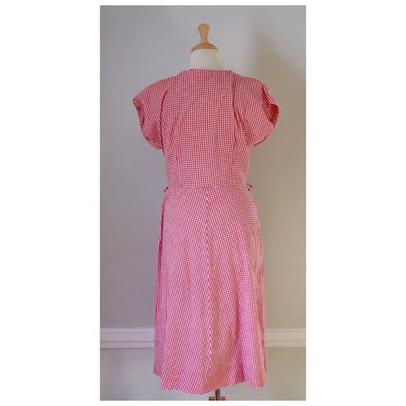 30s / 40s Gingham Dress - image 6