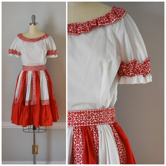 Vintage Patio Skirt and Blouses