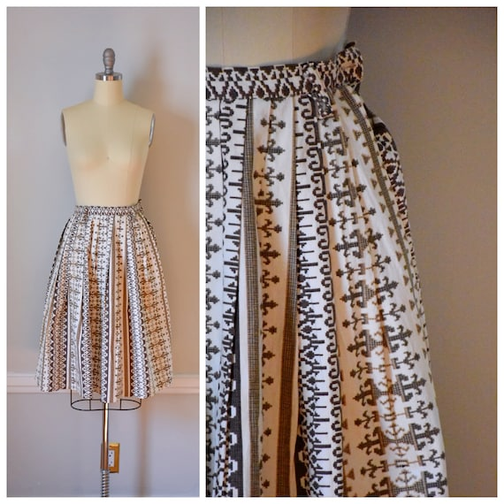 50s Vintage Cotton Skirt