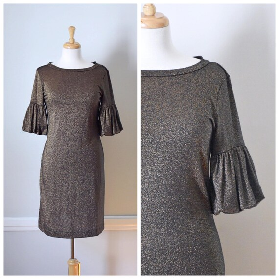 Vintage 90s Metallic Dress